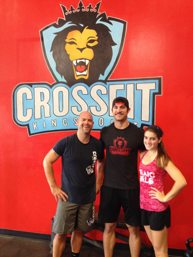 Katie Lohse, Mike Koenig, and Ron Lohse at Crossfit Kings Point