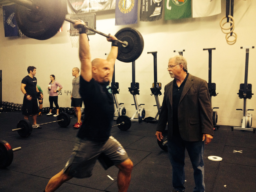 Ron Lohse at Crossfit Free Don McCauley clinic