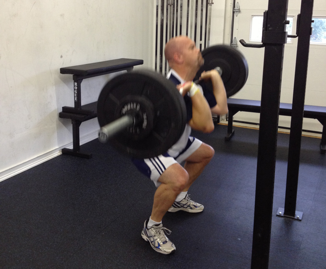 Ron Lohse Crossfit Front squat @ 175#